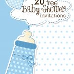Printable Baby Shower Invitations   Free Printable Elephant Baby Shower Invitations