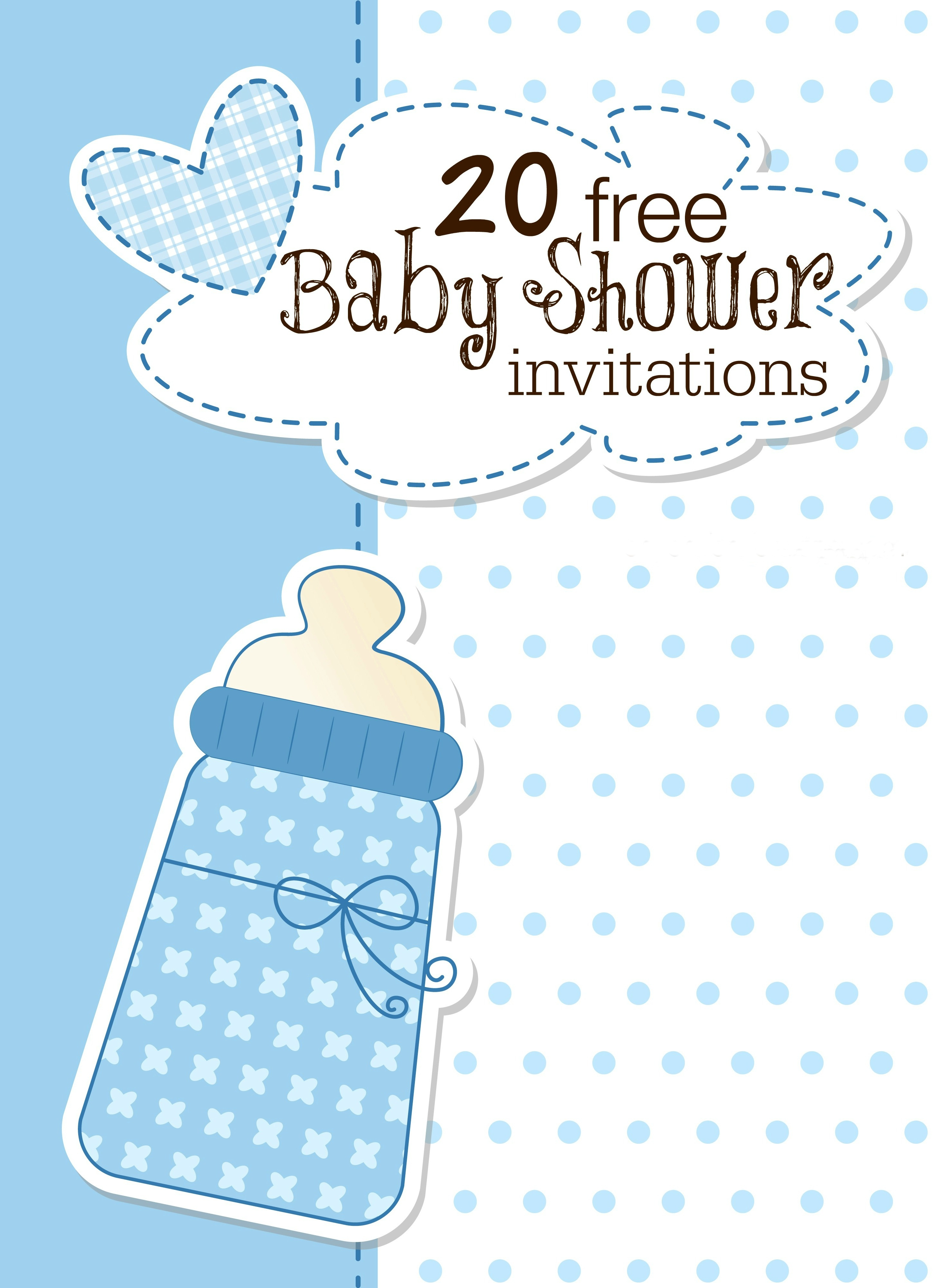 Printable Baby Shower Invitations - Free Printable Elephant Baby Shower Invitations