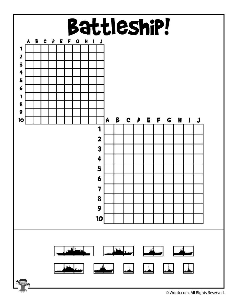 Printable Battleship Game | Childhood Games | Battleship Game, Kid - Free Printable Battleship Game