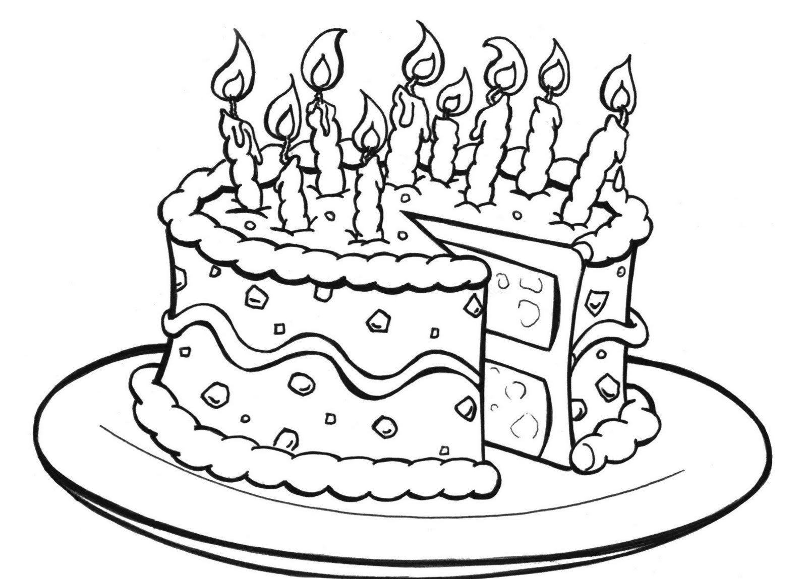 Printable Birthday Coloring Pages Coloring Pages Remarkable Free - Free Printable Birthday Cake