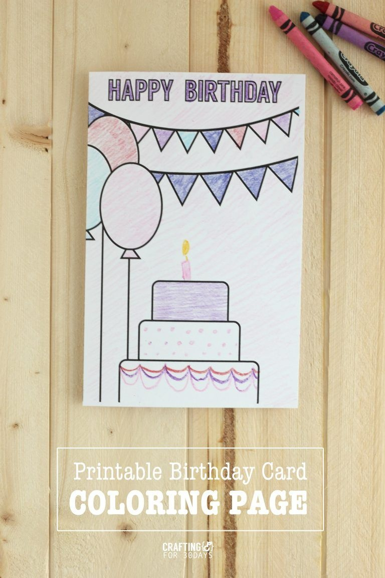 Printable Birthday Coloring Pages | Printables | Birthday Coloring - Free Printable Happy Birthday Cards For Dad