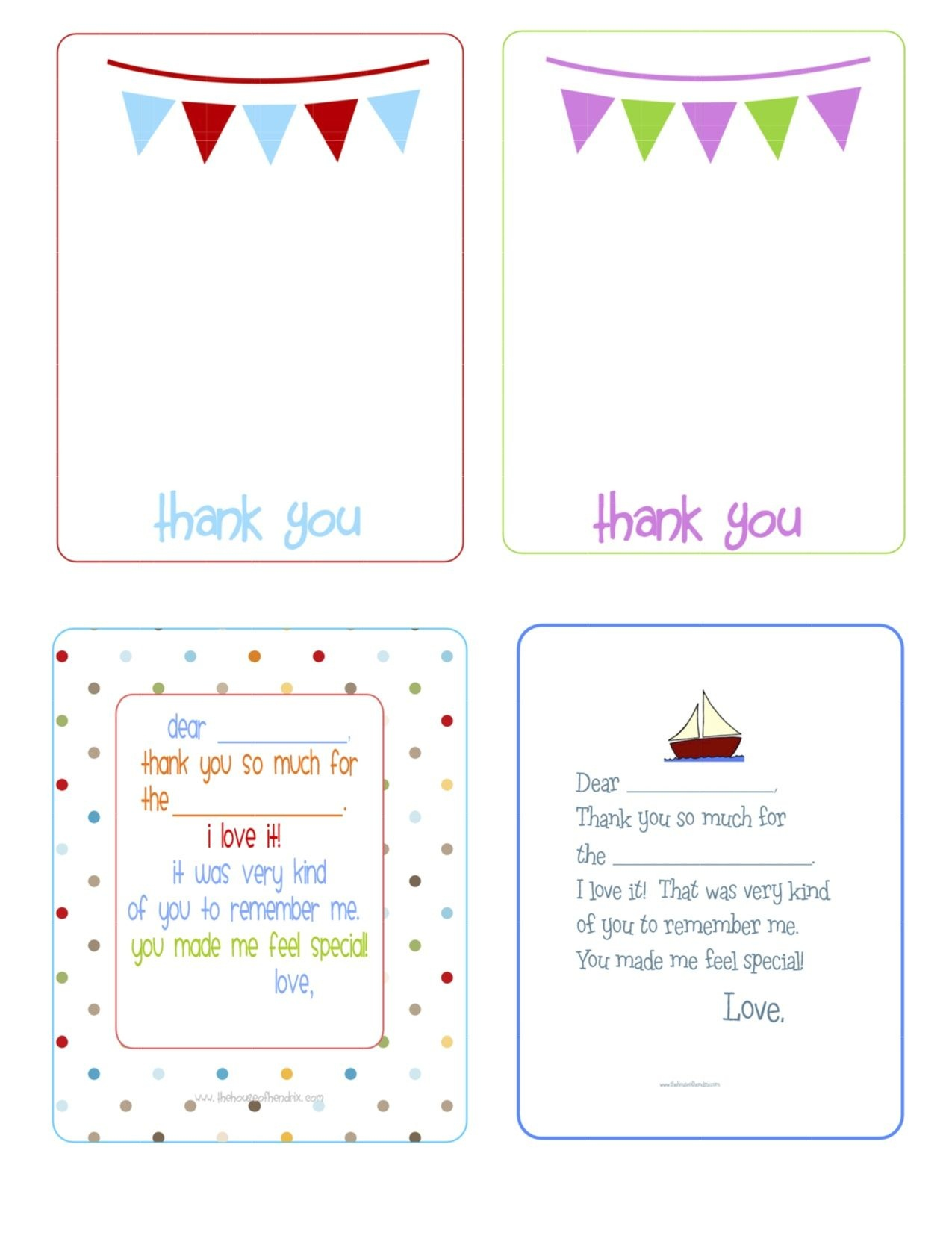 Printable Birthday Thank You Cards - | Printables & Fonts - Free Printable Thank You Cards For Soldiers