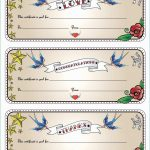 Printable Blank Gift Certificate Template Free Massage Awesome   Free Printable Tattoo Gift Certificates