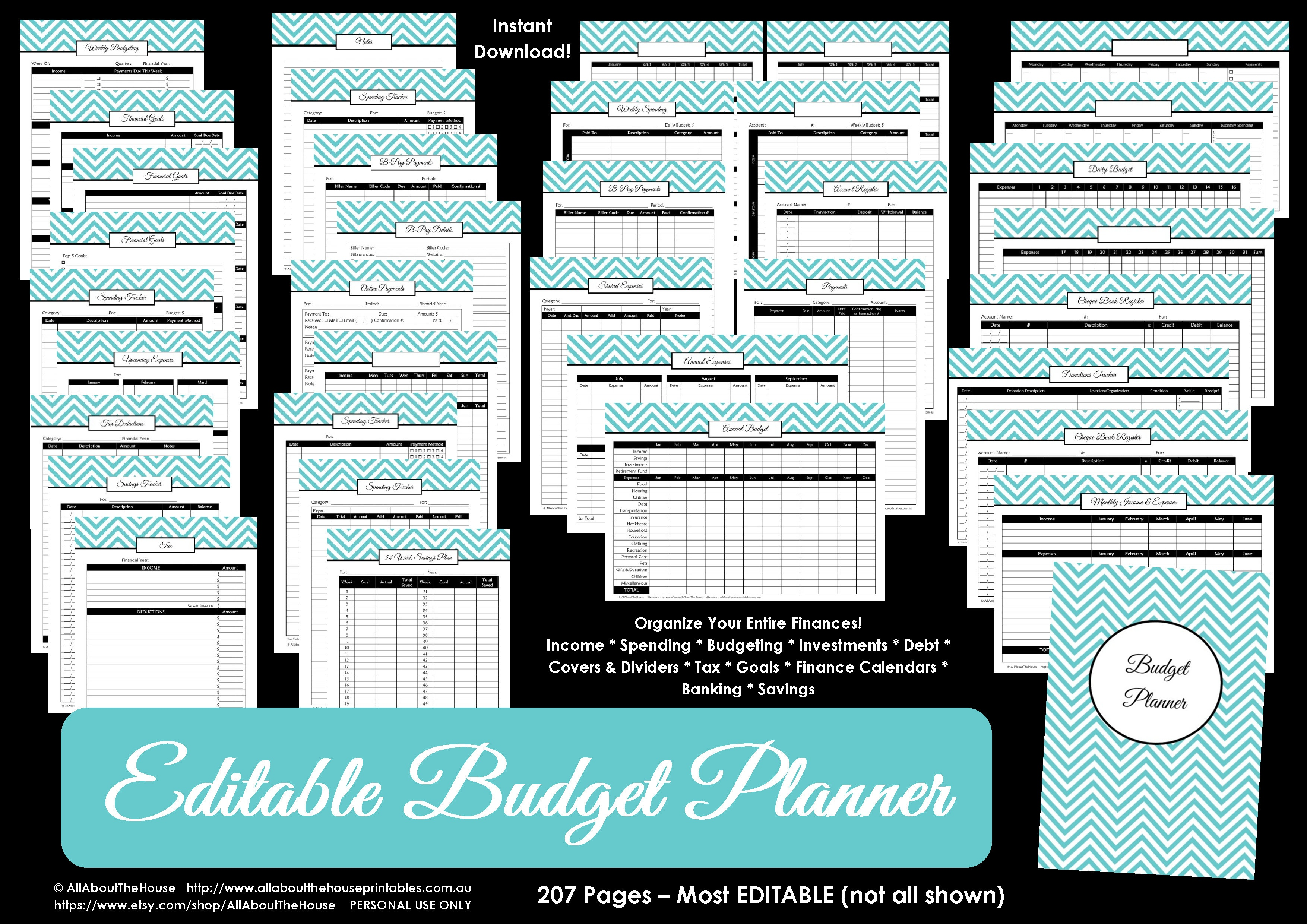 Printable Budget Planner/finance Binder Update - All About Planners - Free Printable Budget Binder