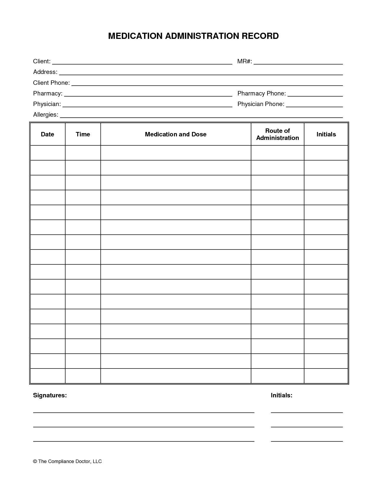 Printable Chart Printable-Medication-Chart-Daily-4 Printable - Free Printable Medicine Daily Chart
