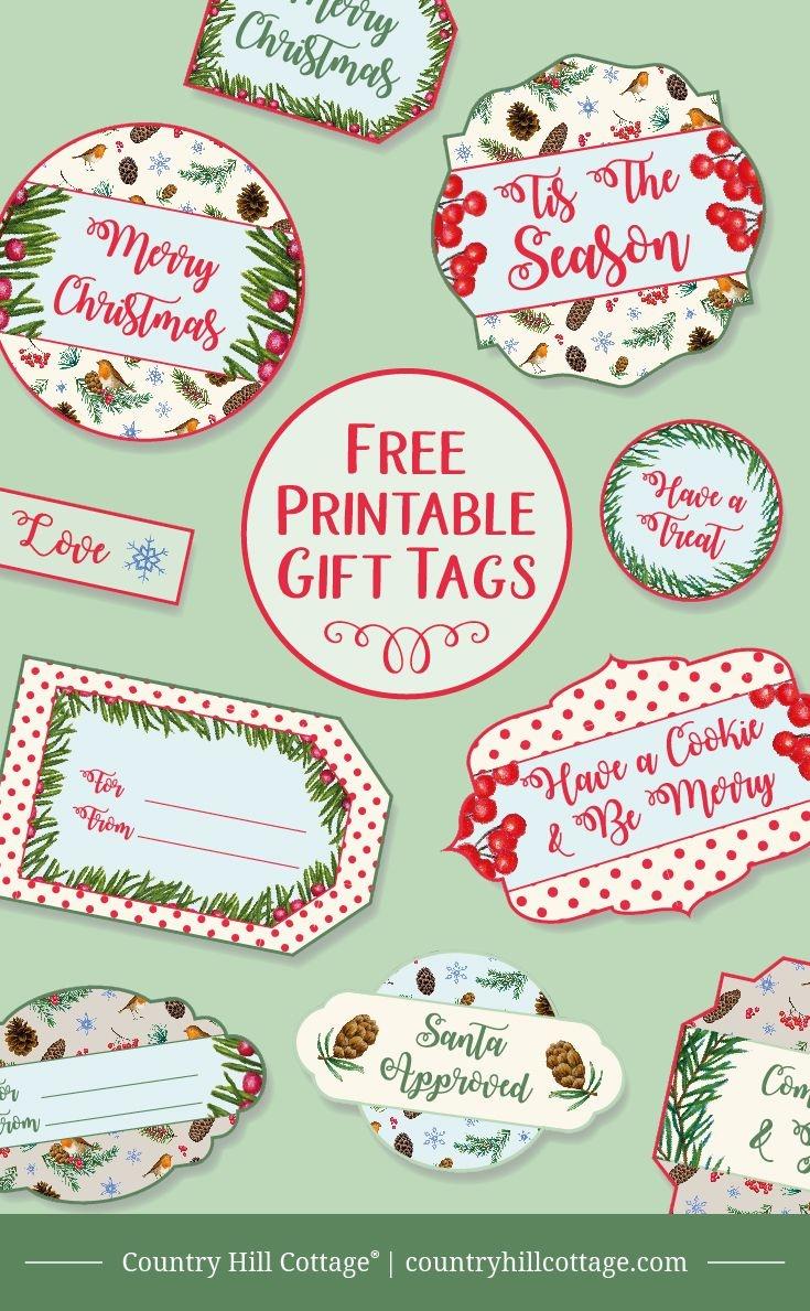 Printable Christmas Gift Tags | Christmas Gifts | Christmas Gift - Free Printable Christmas Food Labels