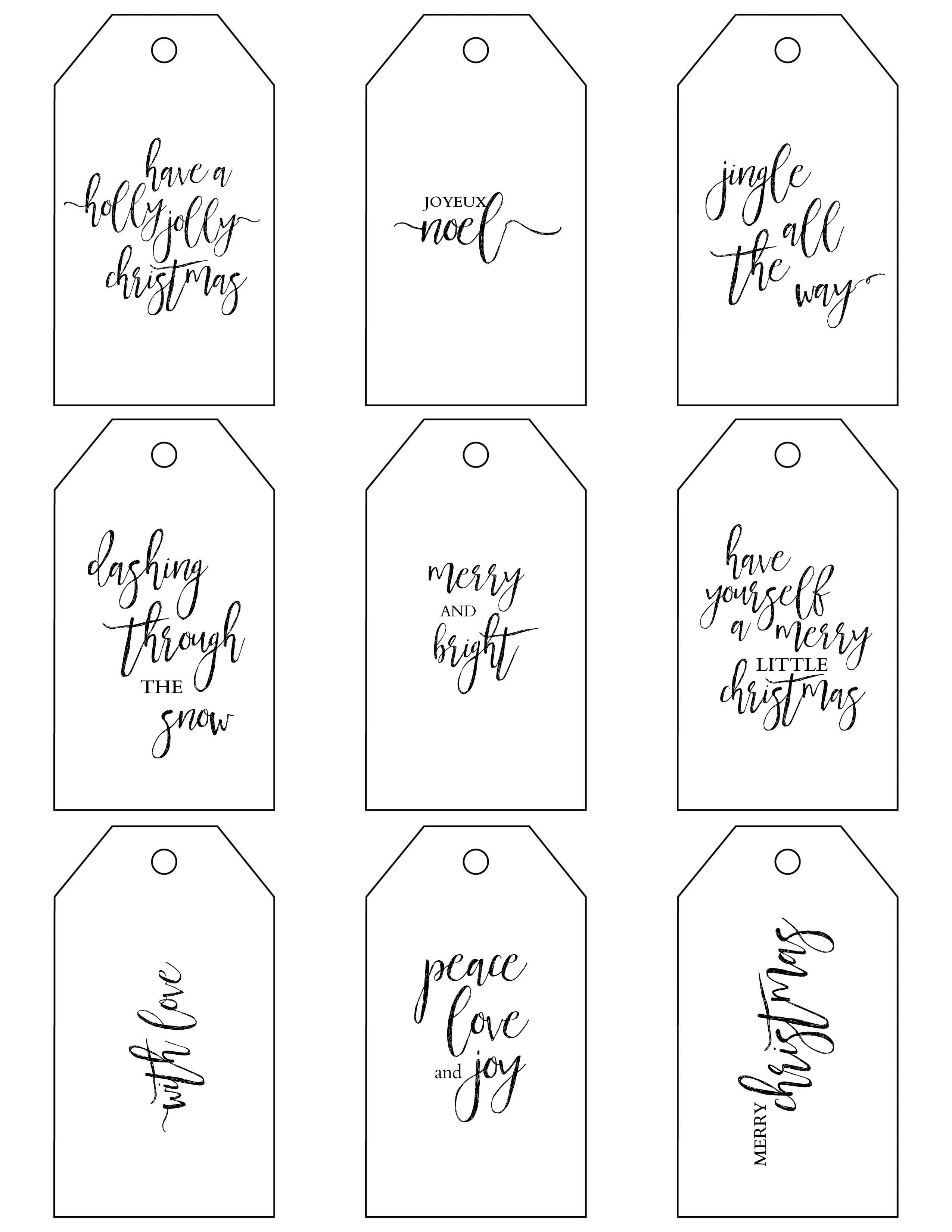 Printable Christmas Gift Tags Make Holiday Wrapping Simple - Free Printable Holiday Gift Labels