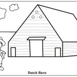 Printable Coloring House Coloring Sheet – Free Coloring Book   Free Printable Barn Coloring Pages