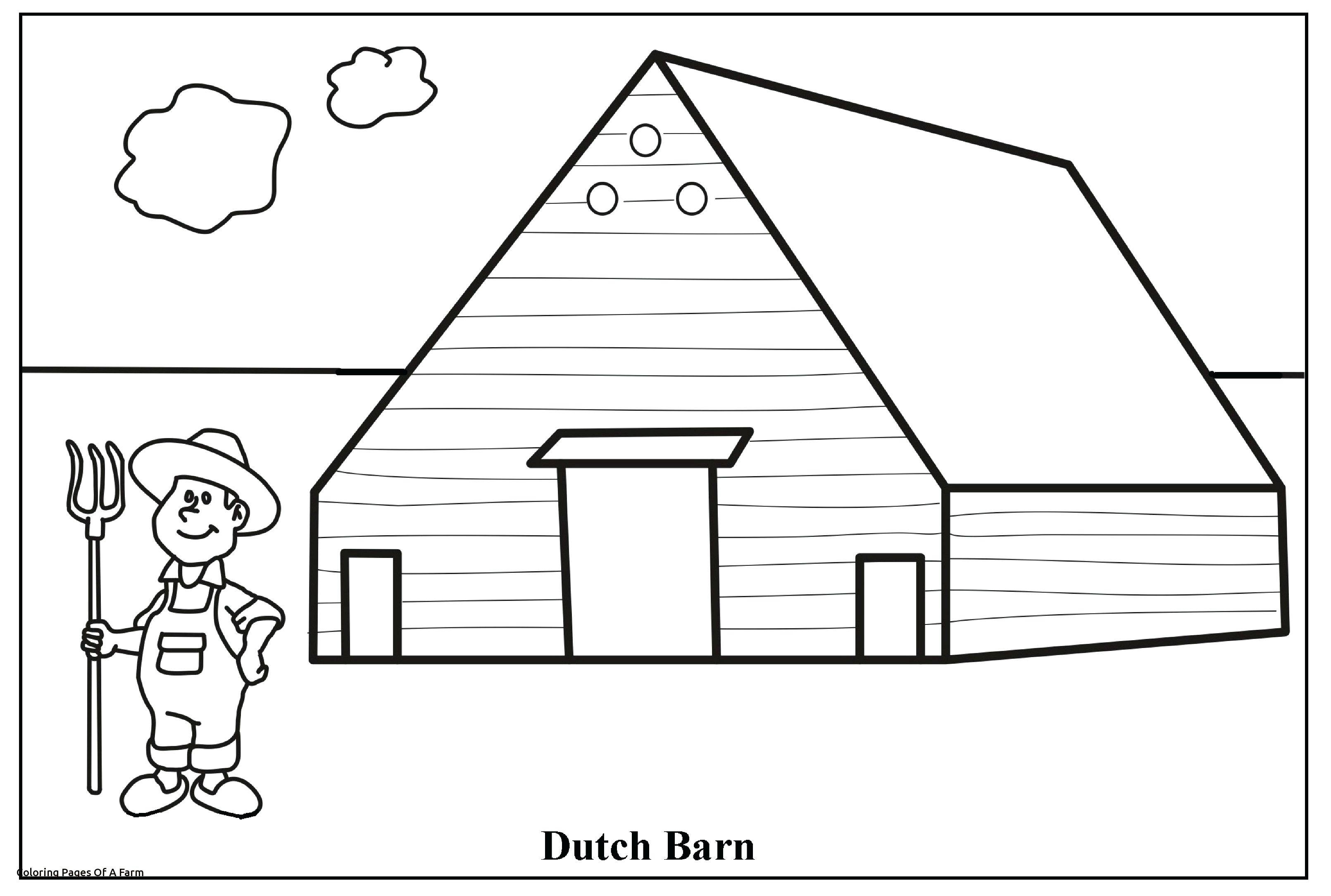 Printable Coloring House Coloring Sheet – Free Coloring Book - Free Printable Barn Coloring Pages