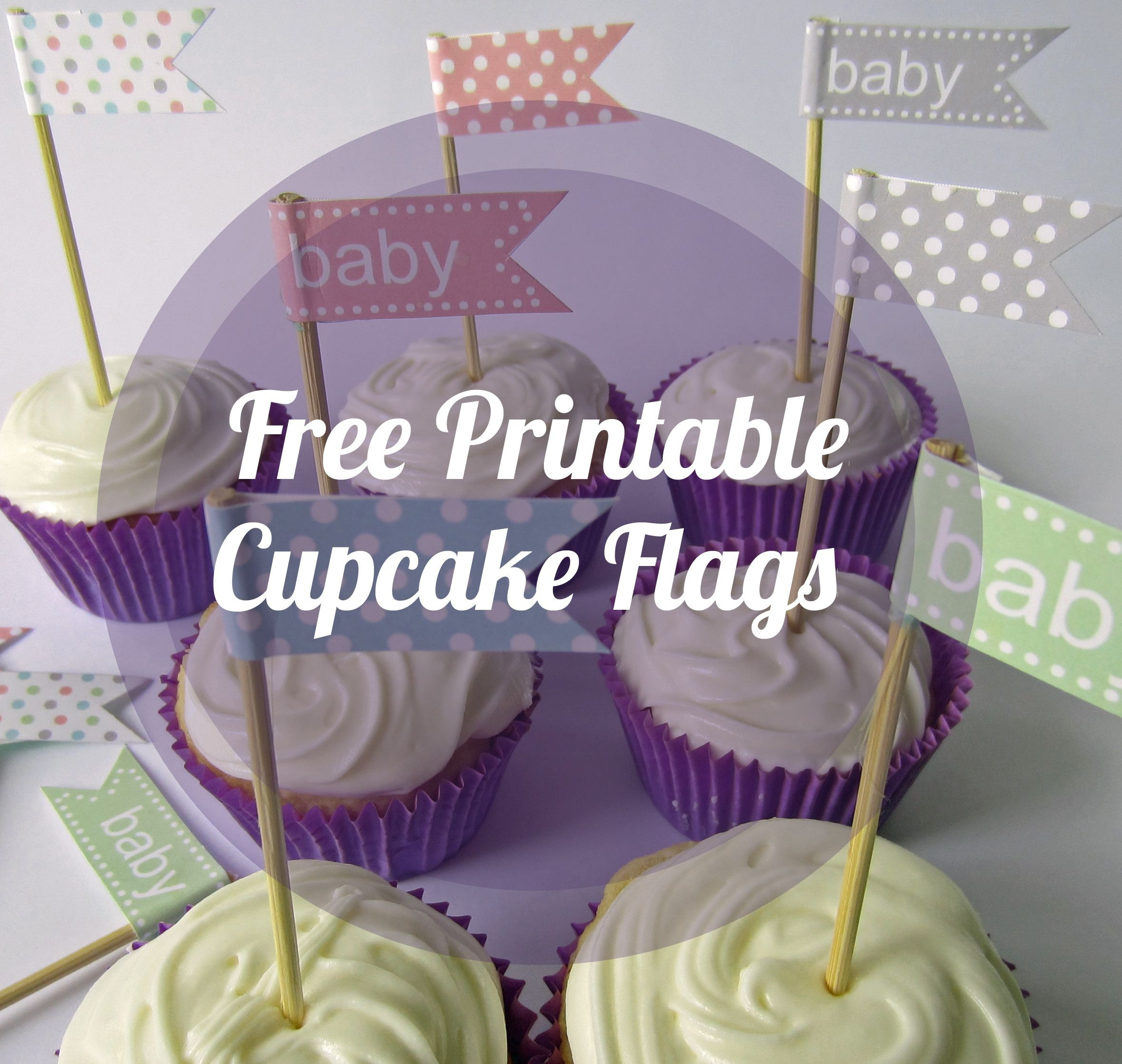 Printable Cupcake Flags | Free Printable Cupcake Flags | Baby - Cupcake Flags Printable Free