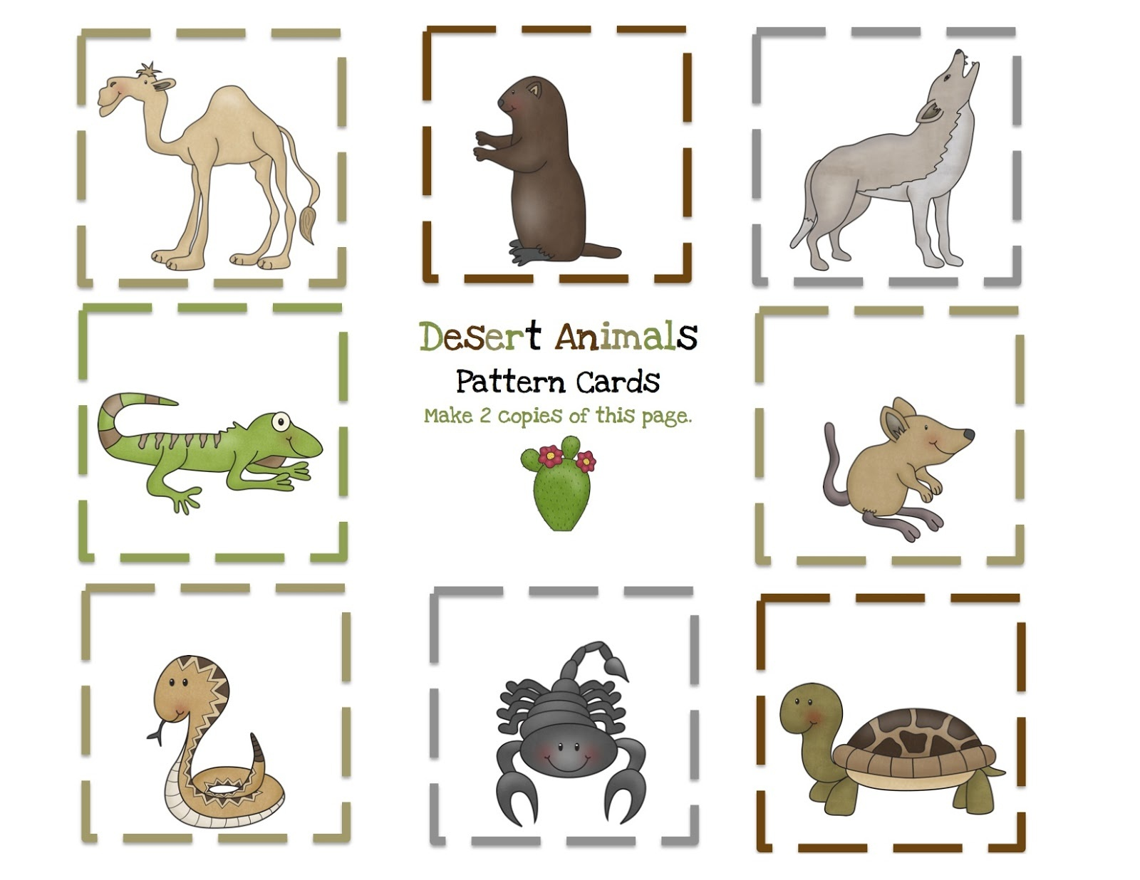 Printable Desert Pictures On Animal Picture Society - Free Printable Desert Animals