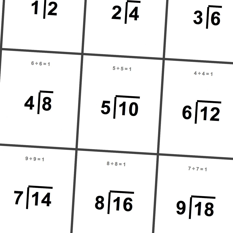 Printable Division Flashcards!   Math Worksheets   Printable Math - Free Printable Division Flash Cards