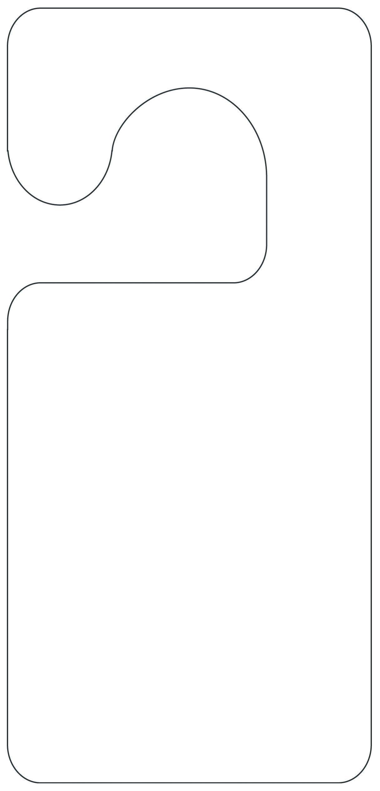 Printable Door Hanger Template | Girl Scouts | Door Hanger Template - Free Printable Door Knob Hanger Template