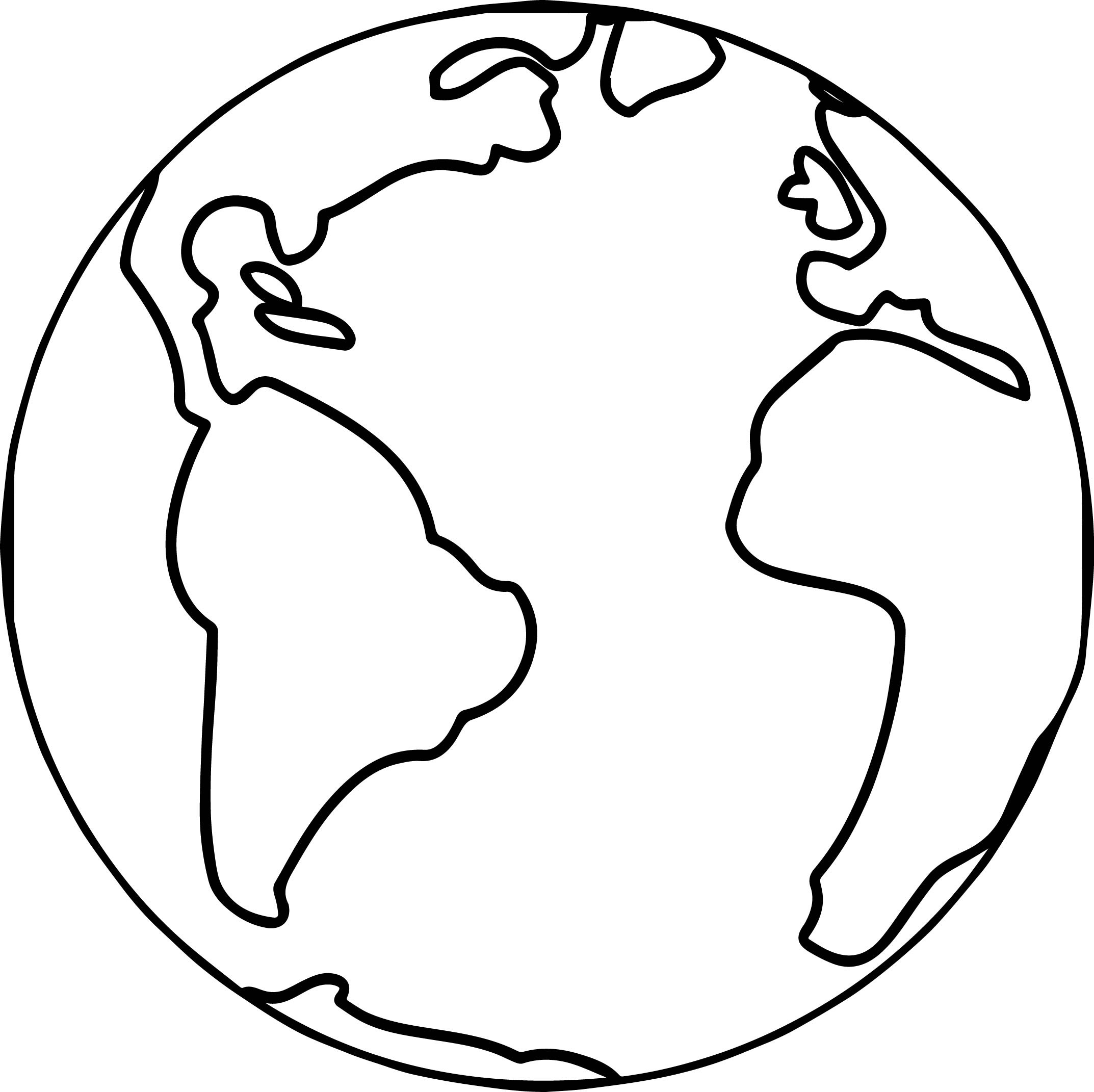 Printable Earth Coloring Pages | Free Download Best Printable Earth - Earth Coloring Pages Free Printable