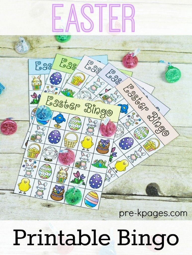 Printable Easter Bingo Game   Preschool Easter Theme   Easter Bingo - Free Printable Religious Easter Bingo Cards