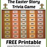 Printable Easter Story Trivia Game | Hip Homeschool Moms   Free Printable Bible Trivia For Adults