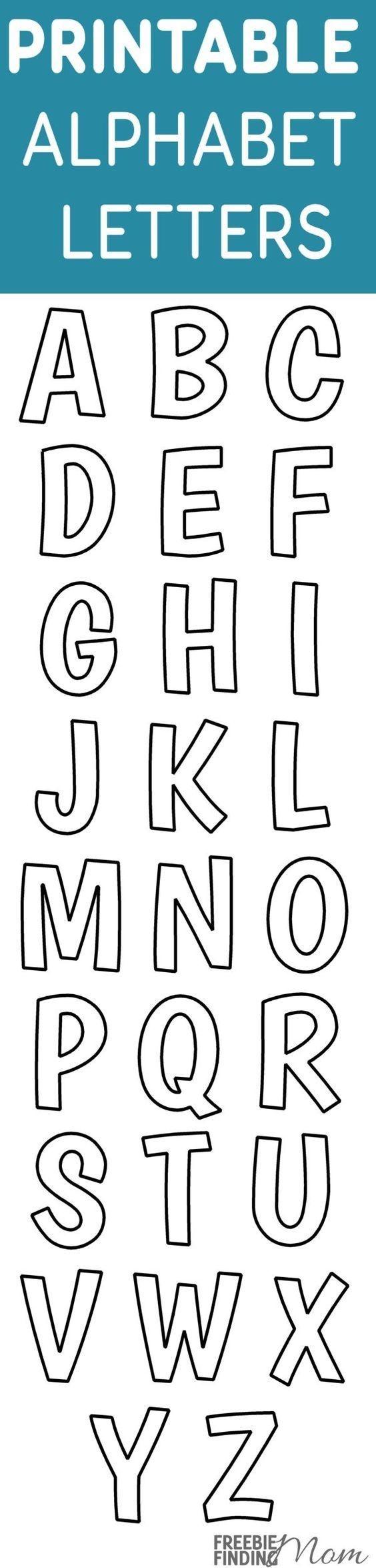 Printable Free Alphabet Templates | The Group Board On Pinterest - Free Printable Alphabet Stencils
