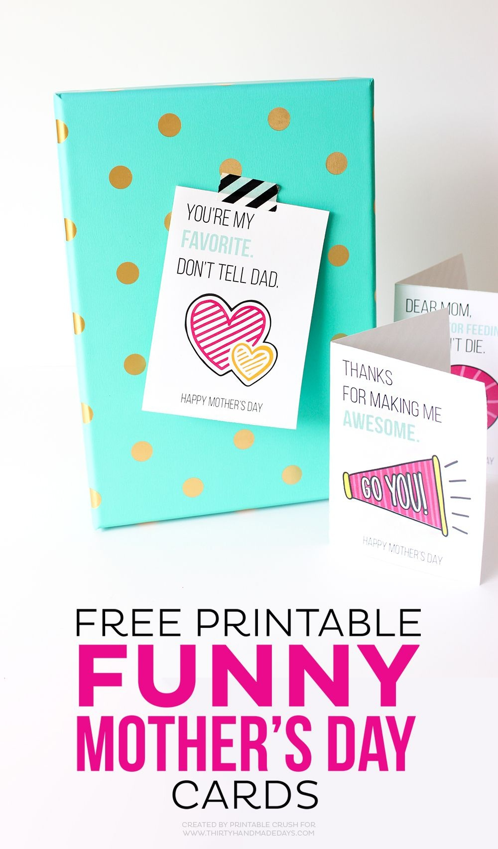 Printable Funny Mother's Day Cards | Art + Graphic Design Bloggers - Free Printable Funny Mother's Day Cards