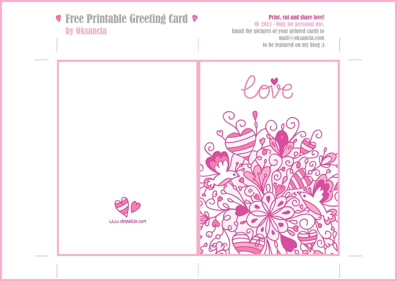Printable Greeting Card | Xmasblor - Free Printable Love Greeting Cards