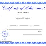 Printable Hard Work Certificates Kids | Printable Certificate Of   Free Printable Blank Certificates Of Achievement