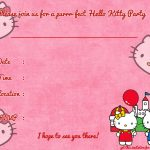 Printable Hello Kitty Birthday Invitation Template | Party | Hello   Hello Kitty Birthday Card Printable Free