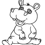 Printable Hippo Coloring Pages For Kids | Cool2Bkids   Free Printable Hippo Coloring Pages
