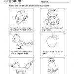Printable Kindergarten Reading Worksheet   Free English Worksheet   Free Printable English Reading Worksheets For Kindergarten