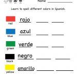 Printable Kindergarten Worksheets | Printable Spanish Worksheet   Free Printable Spanish Numbers