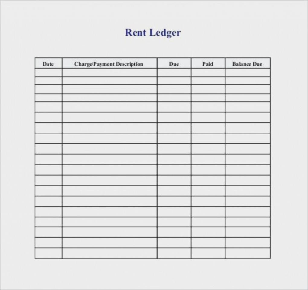 Printable Ledger Template Rent Receipts Rental Forms Simple With - Free Printable Rent Ledger