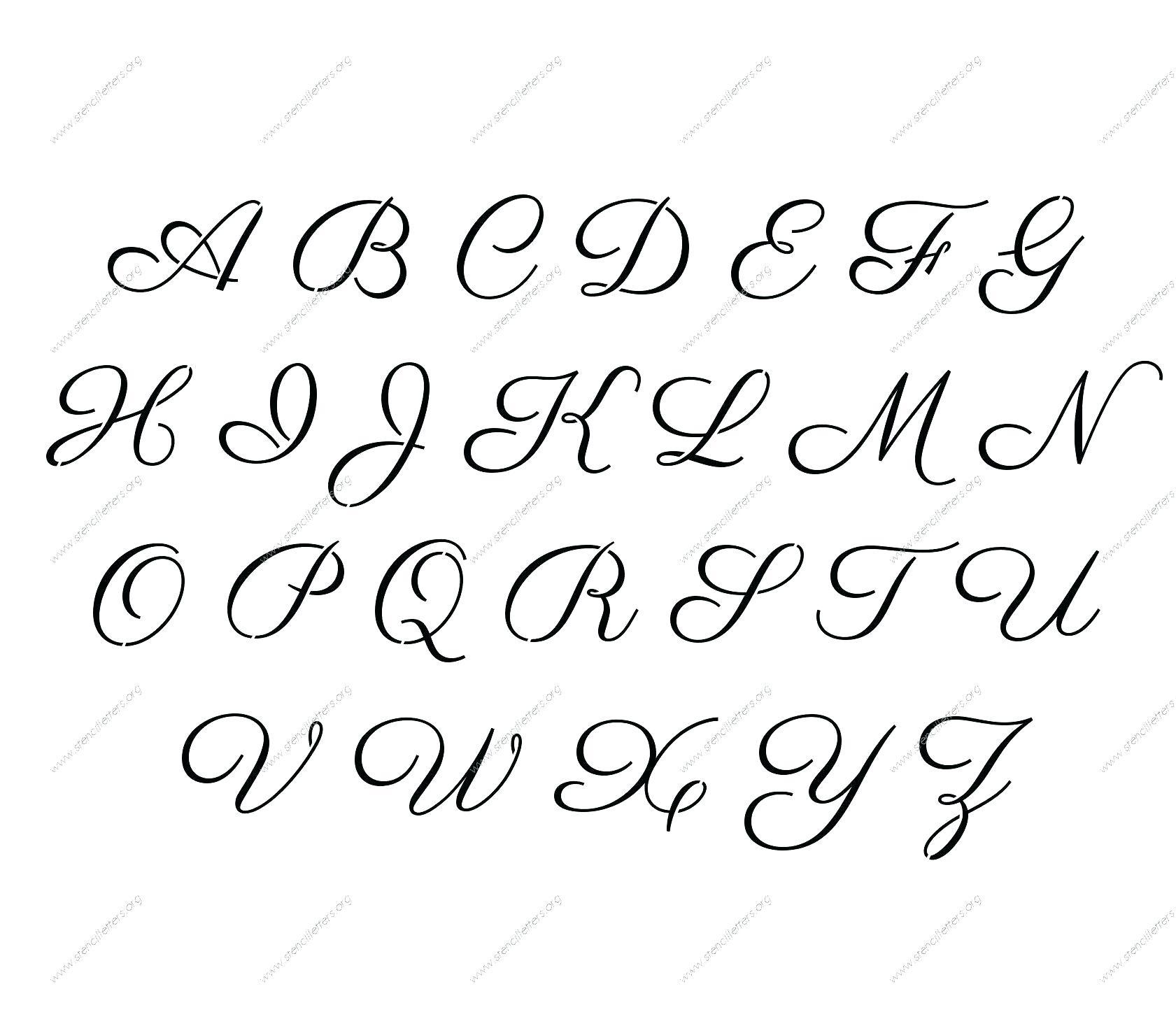 Printable Letter Templates Large Letter Te 9 Best Images Of - Free Printable Alphabet Stencils
