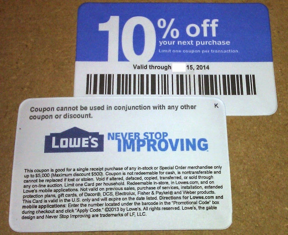 Printable Lowes Coupons (94+ Images In Collection) Page 1 - Free Printable Lowes Coupon 2014