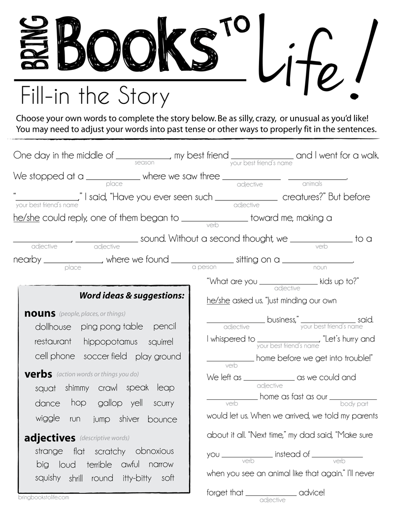 Printable Mad Libs For Fourth Graders - Google Search | Language - Free Printable Mad Libs For Tweens