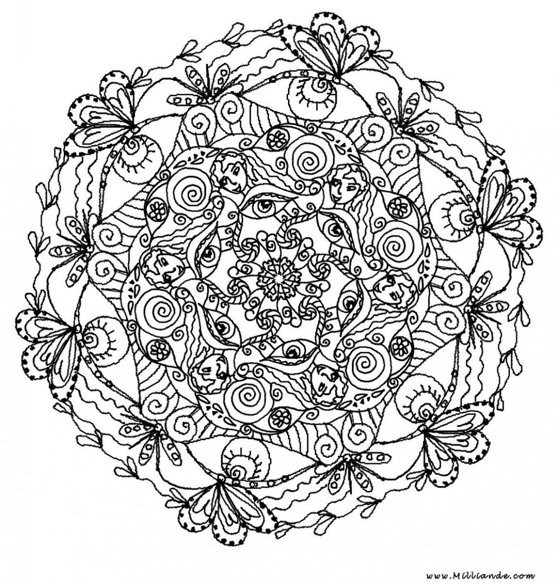 Printable Mandala Coloring Pages Mandala Coloring Pages For Adults - Free Printable Mandala Coloring Pages For Adults
