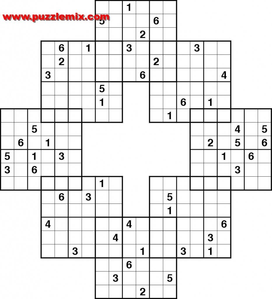Printable Mega Sudoku Puzzles | Printable Sudoku Free - Free Printable Fill In Puzzles