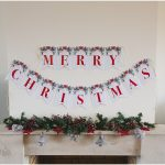 Printable Merry Christmas Banner   Six Clever Sisters   Free Printable Christmas Banner