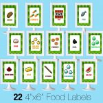 Printable Minecraft Food Labels   Creative Little Parties   Free Printable Tmnt Food Labels