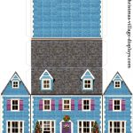 Printable Model Card Houses: Christmas Village Displays   Free Printable Model Railway Buildings
