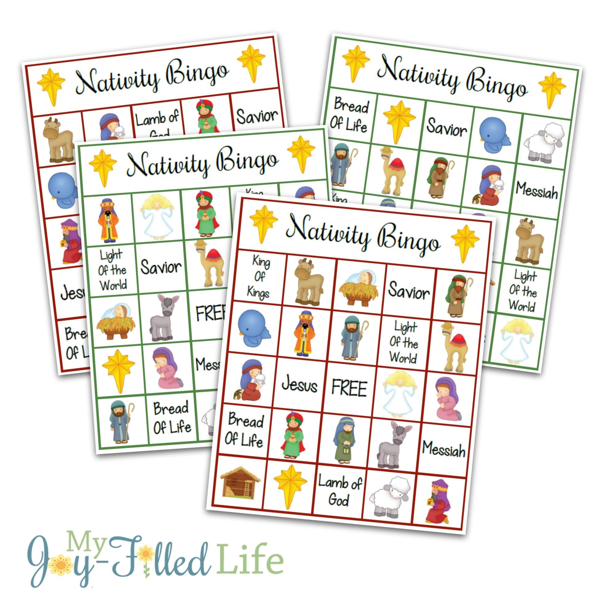Printable Nativity Bingo Game | Games | Printable Christmas Games - Free Printable Bible Bingo For Preschoolers