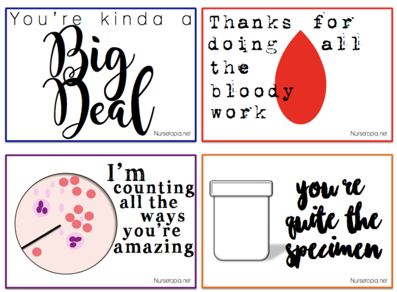 Printable – Nursetopia - Nurses Week 2016 Cards Free Printable
