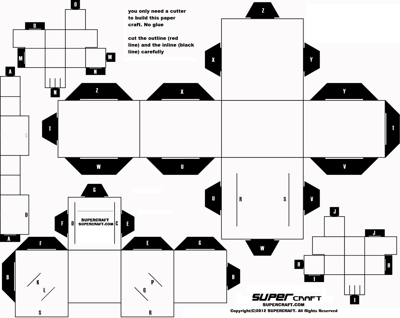 Printable Paper Crafts Templates Black And White | Chart And - Printable Paper Crafts Free