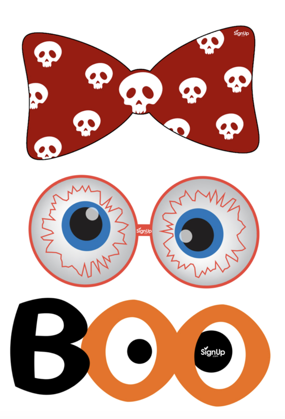 Printable Photobooth Props: Halloween Party Craft Activity | Signup - Free Printable Photo Booth Props