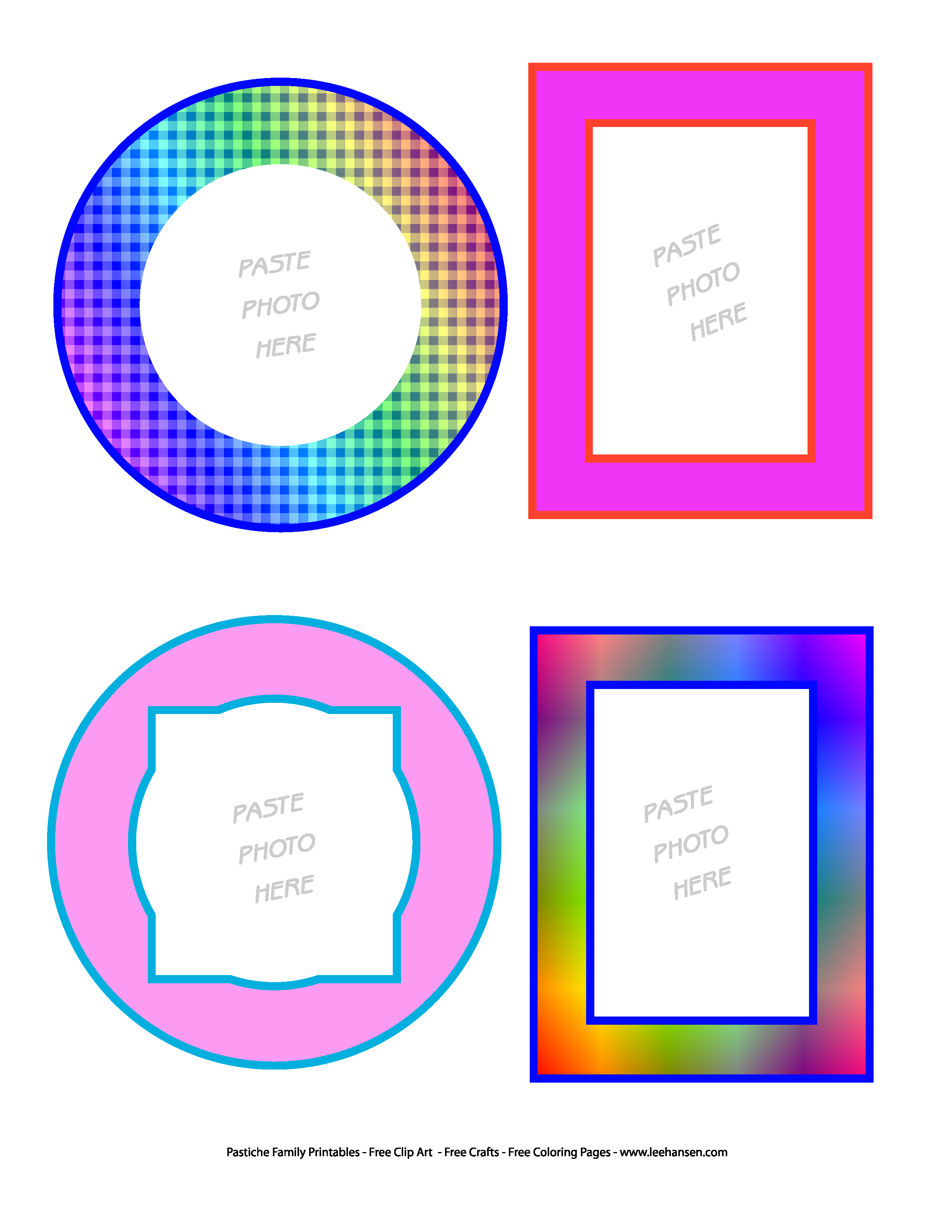 Printable Picture Frame Clip Art Stickers - Free Printable Frames For Scrapbooking