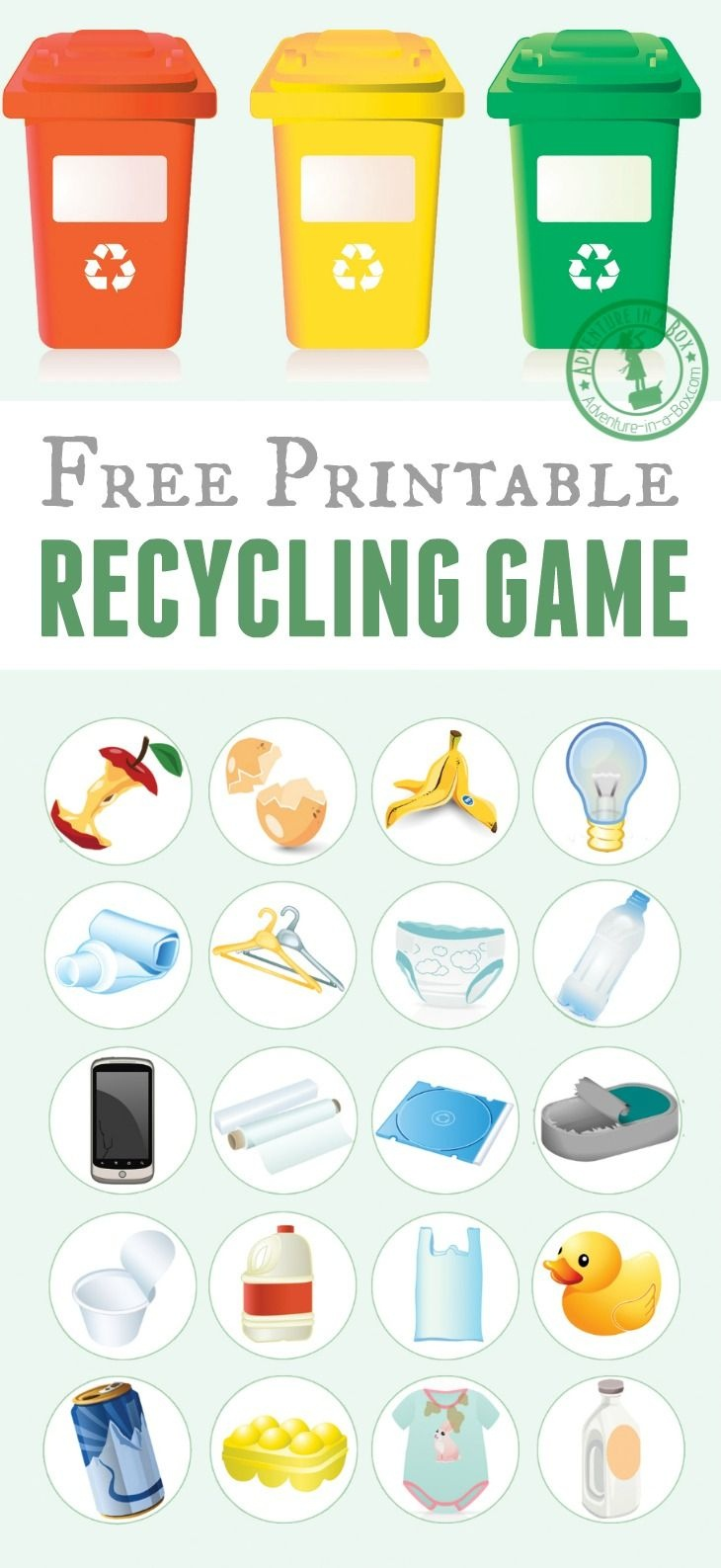 Printable Recycling Game | Free Printable Of The Day | Recycling - Free Printable Memory Exercises