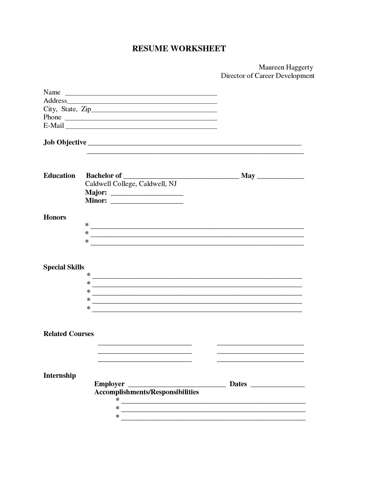 Printable Resumes - Kaza.psstech.co - Free Printable Resume