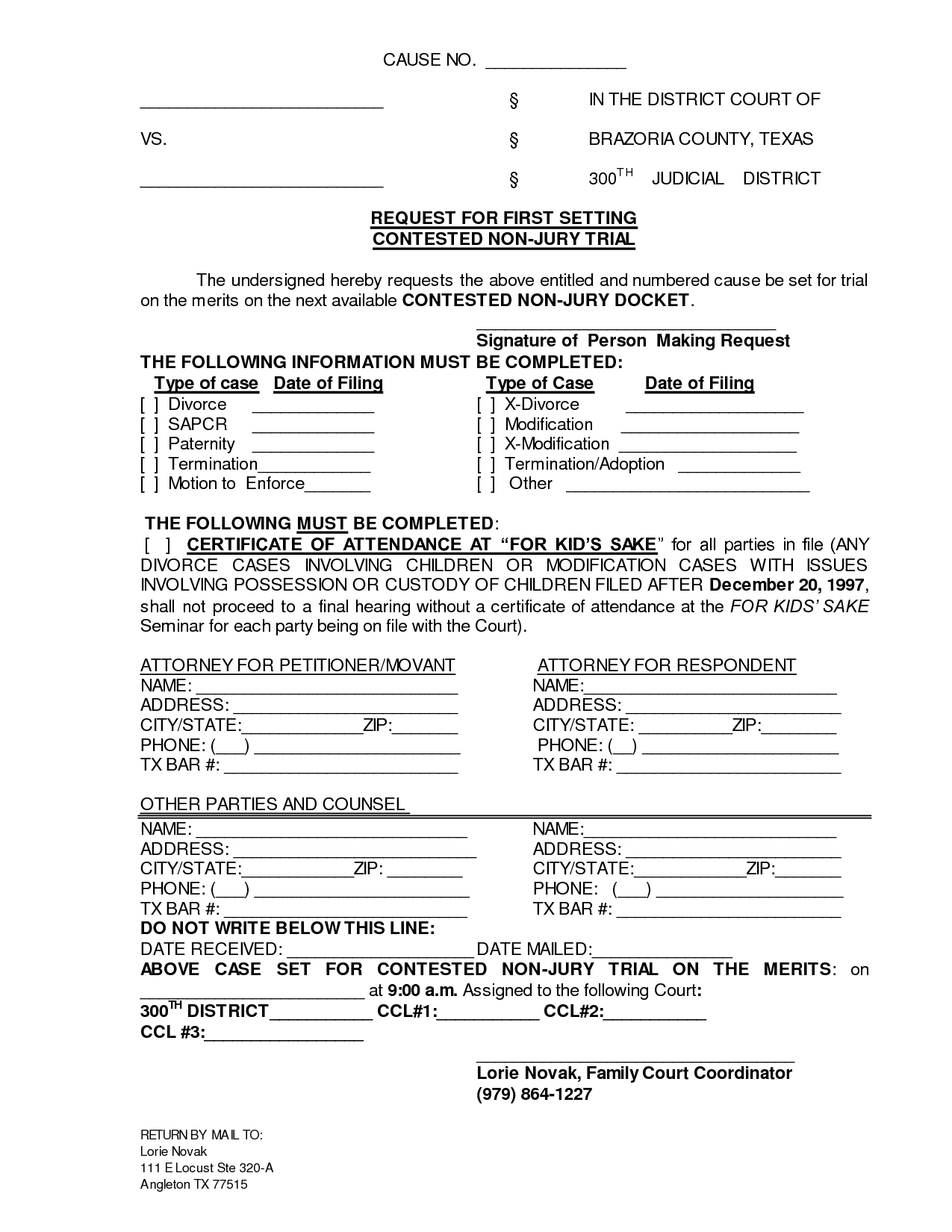 Printable Sample Divorce Documents Form | Laywers Template Forms - Free Printable Divorce Papers For Illinois