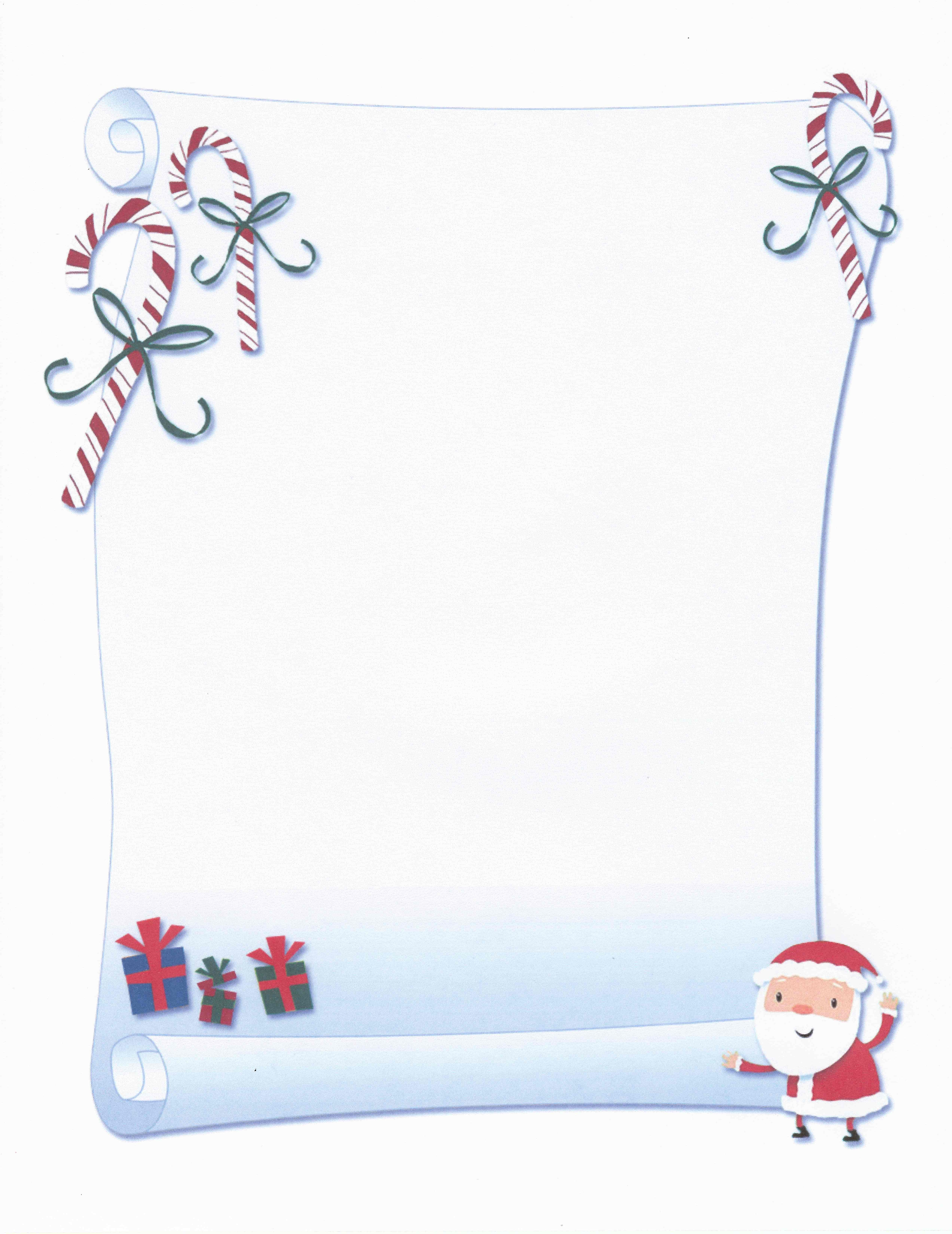 Printable Santa Scroll Certificate Stationery | Stationary | Free - Free Printable Birthday Scrolls