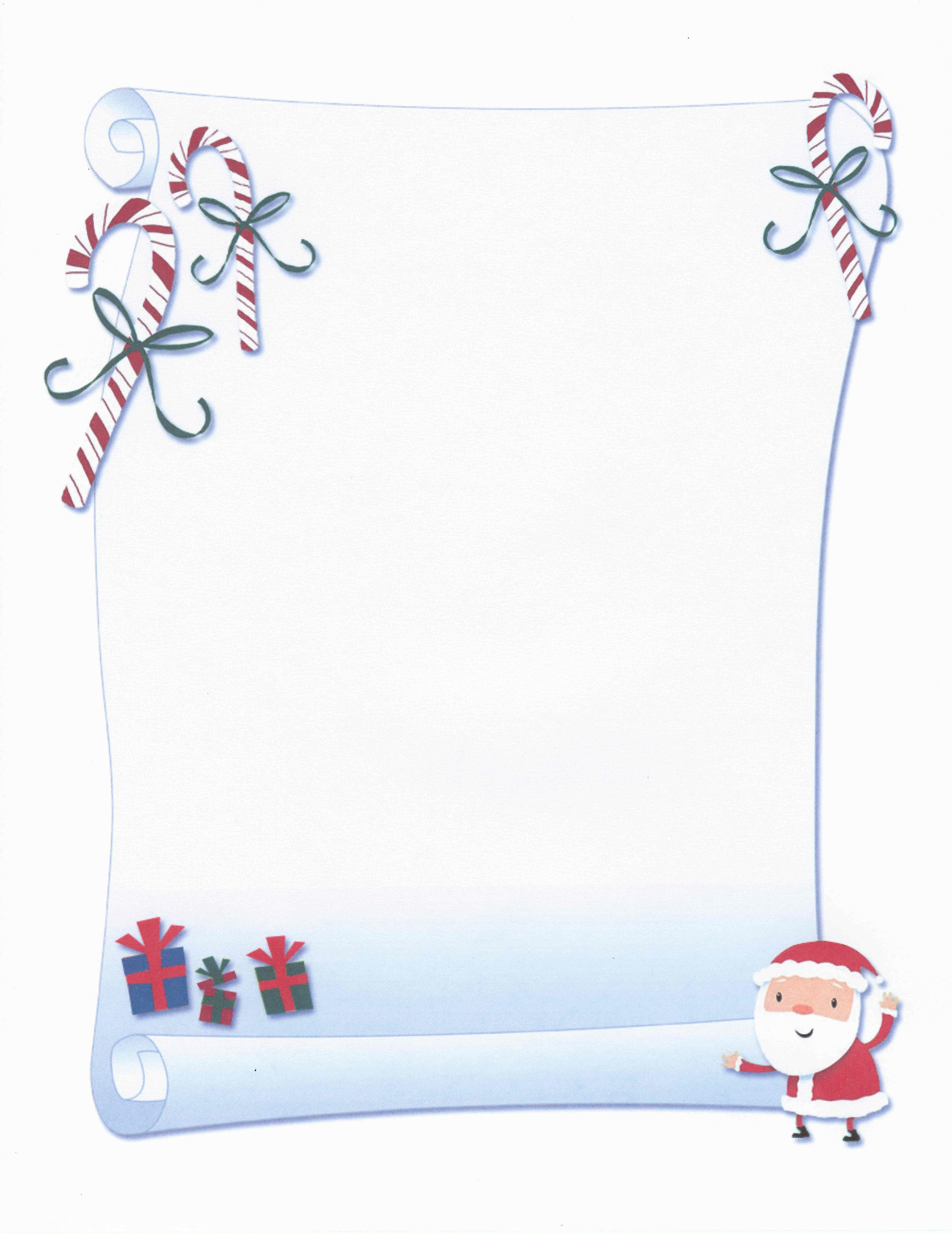 Printable Santa Scroll Certificate Stationery | Stationary | Free - Free Printable Birthday Scrolls