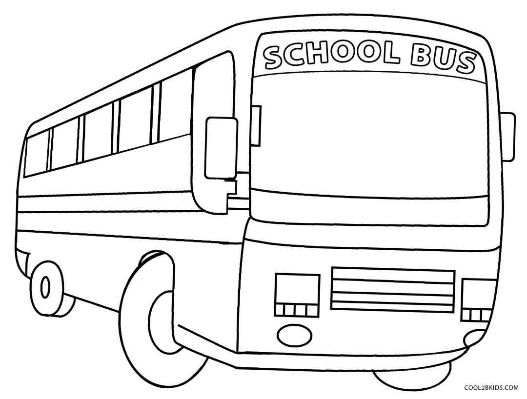 Printable School Bus Coloring Page For Kids | Cool2Bkids - Free Printable School Bus Template