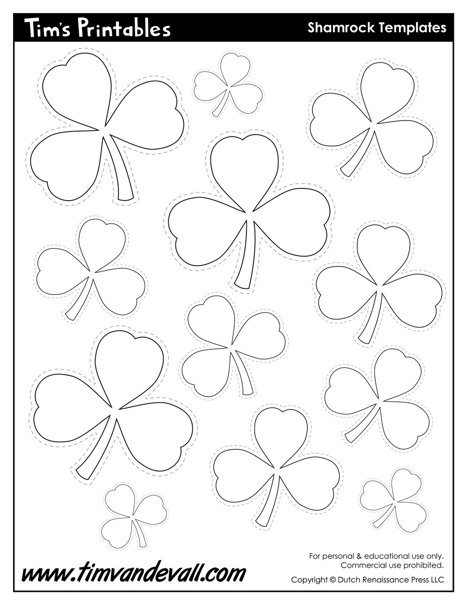 Printable Shamrock Templates | Printable Shape Templates - Shamrock Template Free Printable
