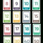 Printable Spanish Number Flash Cards   Free Printable Spanish Numbers